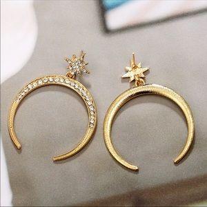 """VALENI"" 🌙 Moon & Stars Boho Chic Gold Earrings"